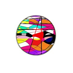 Abstract waves Hat Clip Ball Marker (10 pack)
