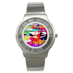 Abstract waves Stainless Steel Watch