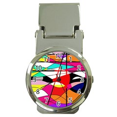 Abstract waves Money Clip Watches