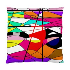 Abstract waves Standard Cushion Case (One Side)