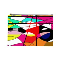 Abstract waves Cosmetic Bag (Large)