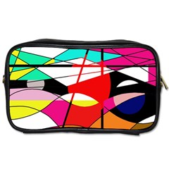 Abstract waves Toiletries Bags