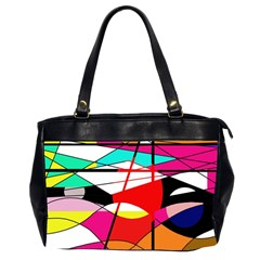Abstract waves Office Handbags (2 Sides)