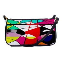 Abstract waves Shoulder Clutch Bags