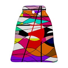 Abstract waves Bell Ornament (2 Sides)