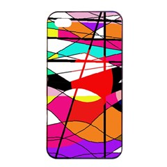 Abstract waves Apple iPhone 4/4s Seamless Case (Black)