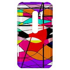Abstract waves HTC Evo 3D Hardshell Case