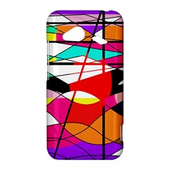 Abstract waves HTC Droid Incredible 4G LTE Hardshell Case