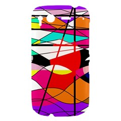 Abstract waves HTC Desire S Hardshell Case