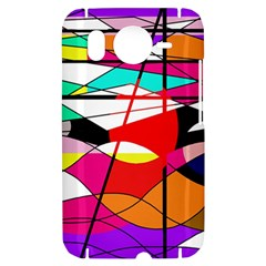 Abstract waves HTC Desire HD Hardshell Case