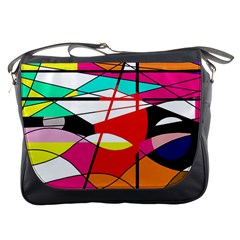 Abstract waves Messenger Bags