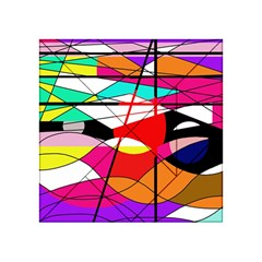 Abstract waves Acrylic Tangram Puzzle (4  x 4 )