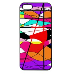 Abstract waves Apple iPhone 5 Seamless Case (Black)