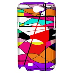 Abstract waves Samsung Galaxy Note 2 Hardshell Case