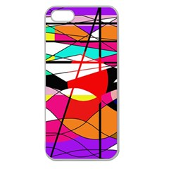 Abstract waves Apple Seamless iPhone 5 Case (Clear)