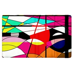 Abstract waves Apple iPad 2 Flip Case