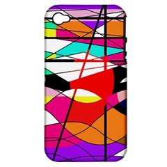 Abstract waves Apple iPhone 4/4S Hardshell Case (PC+Silicone)