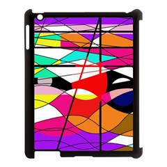 Abstract waves Apple iPad 3/4 Case (Black)