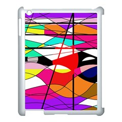 Abstract waves Apple iPad 3/4 Case (White)