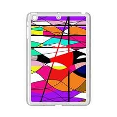 Abstract waves iPad Mini 2 Enamel Coated Cases