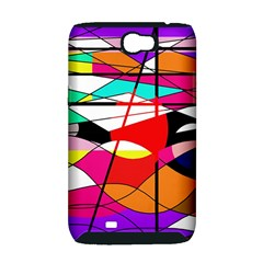 Abstract waves Samsung Galaxy Note 2 Hardshell Case (PC+Silicone)