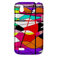 Abstract waves HTC Desire V (T328W) Hardshell Case