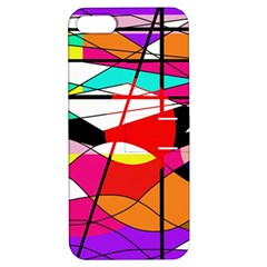 Abstract waves Apple iPhone 5 Hardshell Case with Stand