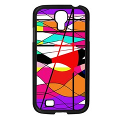 Abstract waves Samsung Galaxy S4 I9500/ I9505 Case (Black)