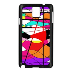 Abstract waves Samsung Galaxy Note 3 N9005 Case (Black)