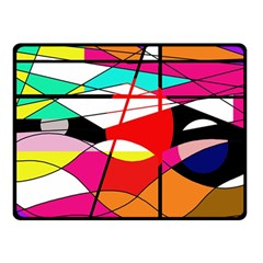 Abstract waves Double Sided Fleece Blanket (Small)
