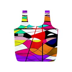 Abstract waves Full Print Recycle Bags (S)