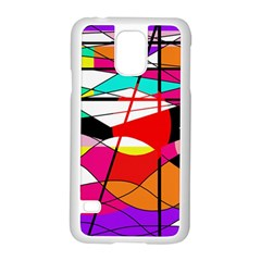 Abstract waves Samsung Galaxy S5 Case (White)
