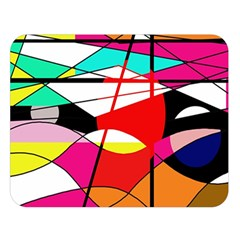 Abstract waves Double Sided Flano Blanket (Large)