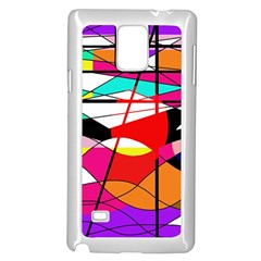 Abstract waves Samsung Galaxy Note 4 Case (White)