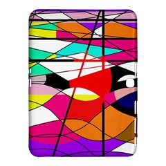 Abstract waves Samsung Galaxy Tab 4 (10.1 ) Hardshell Case