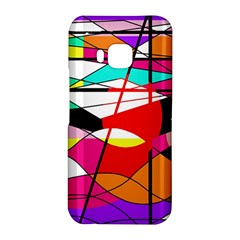 Abstract waves HTC One M9 Hardshell Case