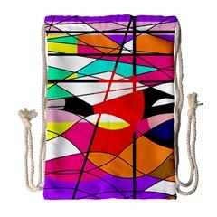 Abstract waves Drawstring Bag (Large)