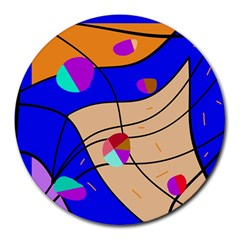 Decorative abstract art Round Mousepads