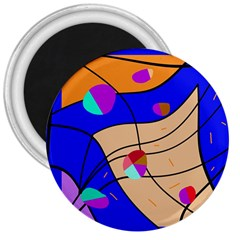 Decorative abstract art 3  Magnets