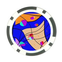 Decorative abstract art Poker Chip Card Guards