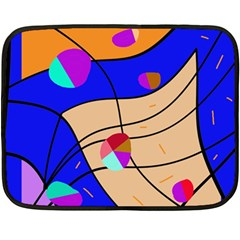 Decorative abstract art Double Sided Fleece Blanket (Mini)