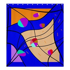 Decorative abstract art Shower Curtain 66  x 72  (Large)