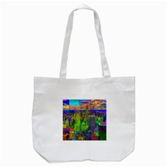 New York City Skyline Tote Bag (White)