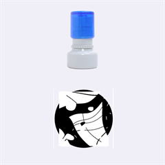 Decorative abstract art Rubber Round Stamps (Small)