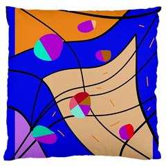 Decorative abstract art Large Cushion Case (Two Sides)