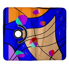 Decorative abstract art Samsung Galaxy Note II Flip 360 Case