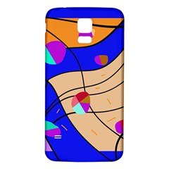 Decorative abstract art Samsung Galaxy S5 Back Case (White)