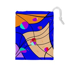 Decorative abstract art Drawstring Pouches (Large)