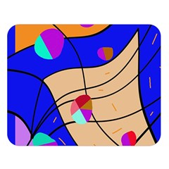Decorative abstract art Double Sided Flano Blanket (Large)