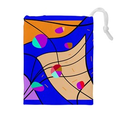 Decorative abstract art Drawstring Pouches (Extra Large)